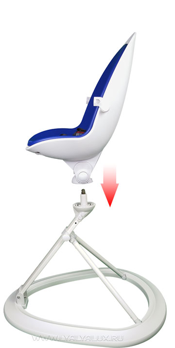 детский стульчик для кормления LYALYAUX  установка сидения