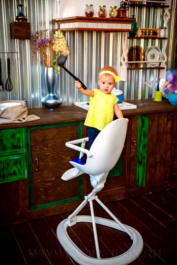 детский стульчик для кормления LYALYAUX  съемный столик