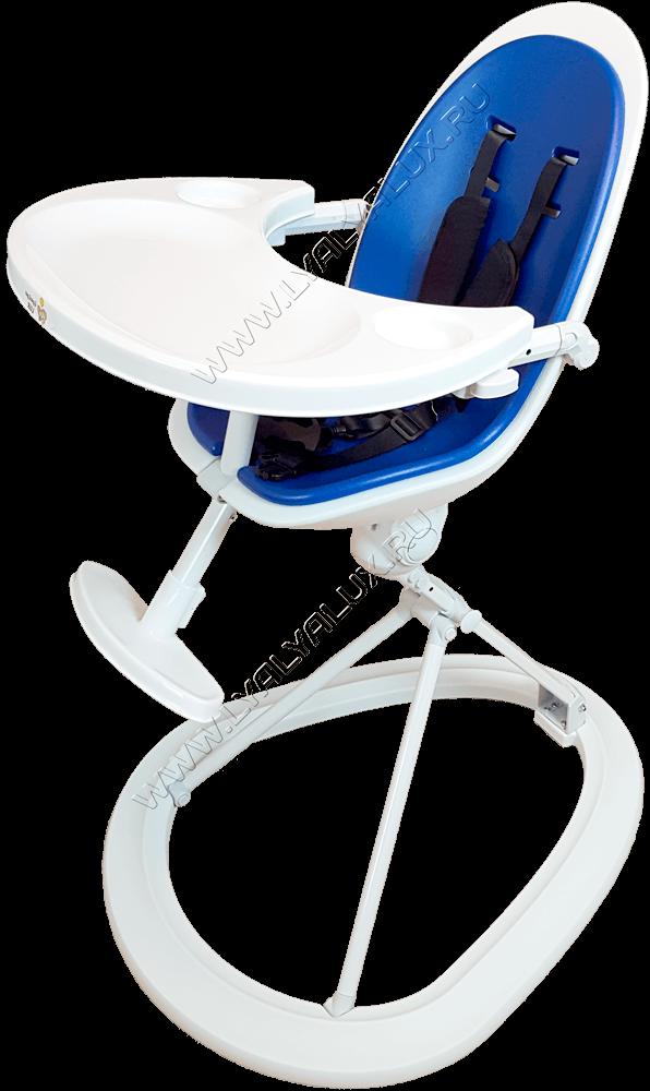 детский стульчик для кормления LYALYAUX синий