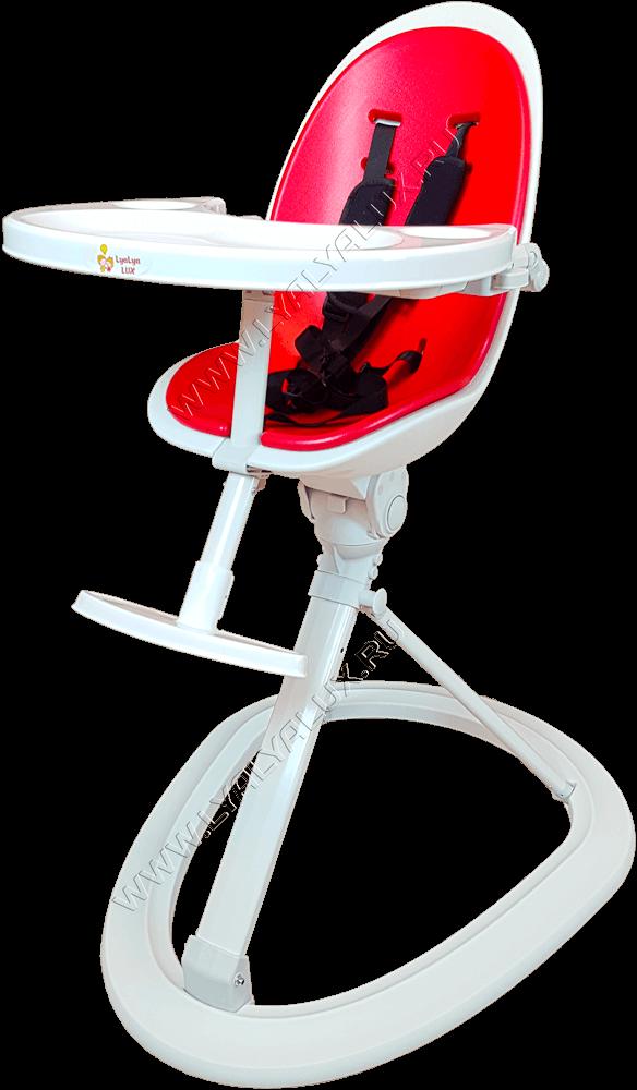 детский стульчик для кормления LYALYAUX красный