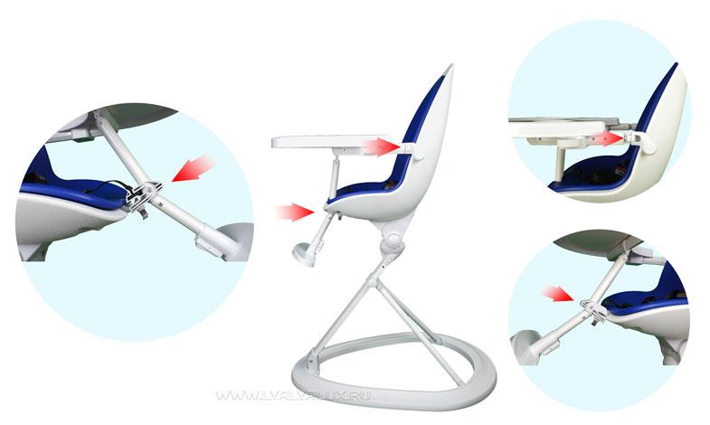 детский стульчик для кормления LYALYAUX  установка столика
