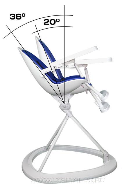 детский стульчик для кормления LYALYAUX  наклон спинки сидения