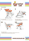 детский стульчик для кормления LYALYAUX инструкция страница 11
