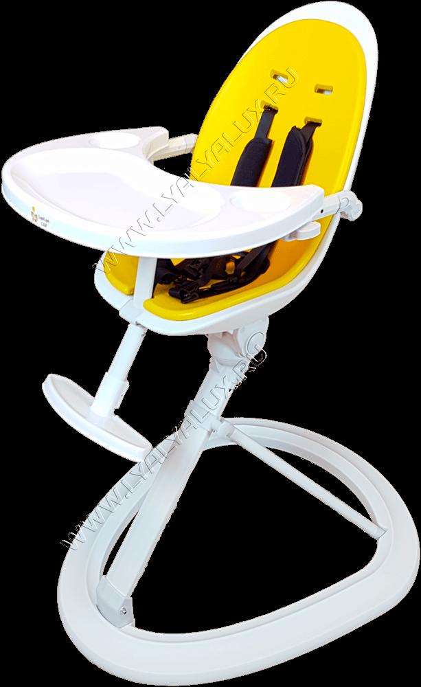 детский стульчик для кормления LYALYAUX желтый